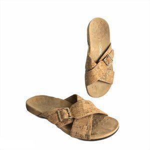 Vionic Dorie Comfort Sandals Cork Tan Size 9